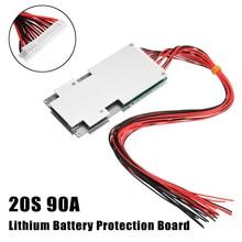 20 s В 72 в 90A BMS PCM литиевая батарея защиты платы PCB для Li-Ion 18650 с баланс заряда аксессуары