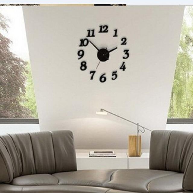 Wohnkultur vintage saat uhren pared decoracion uhr große digita ...