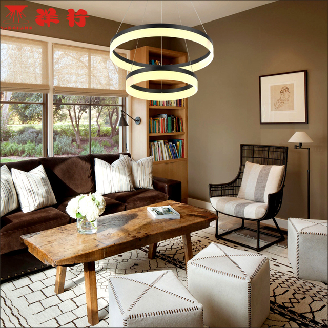 Circel Rings modern led pendant lights for dining living room acrylic cerchio anello lampadario pendant lamp lamparas modernas