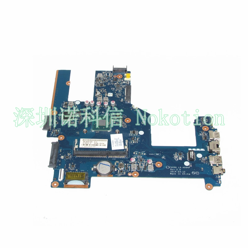 NOKOTION 788287-501 788287-001 Laptop Motherboard For Hp 15 15-R 15T-R 15-S ZSO50 LA-A994P DDR3 CPU nokotion zso50 la a994p 788289 501 788289 001 for hp compaq 15 15 r 15t r 15 s motherboard sr1yj n2840 cpu onboard