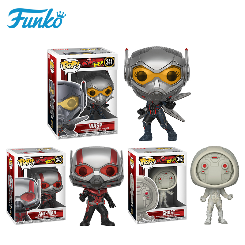 Funko pop Marvel Theme Ant-Man And The Wasp Ghost Action Figure Model Toy Friend Boy Girl Birthday Party Gift With Original Box new 5pcs marvel superhero ant man wasp yellow jacket action figure toys doll