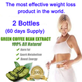 2 бутылок, Чистый зеленый кофе был экстракты диеты потери веса женщин сжигать жир 100% эффективной потери веса быстрого похудения