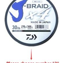 DAIWA J BRAID X4 плетеная леска темно-зеленого цвета 270 М сделано в Японии