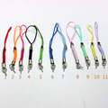 Braided Colorful Mobile Phone/Cellphone Straps/Strings With 5mm Rhodium Tone Eye Head Screw Pins diy Accessories
