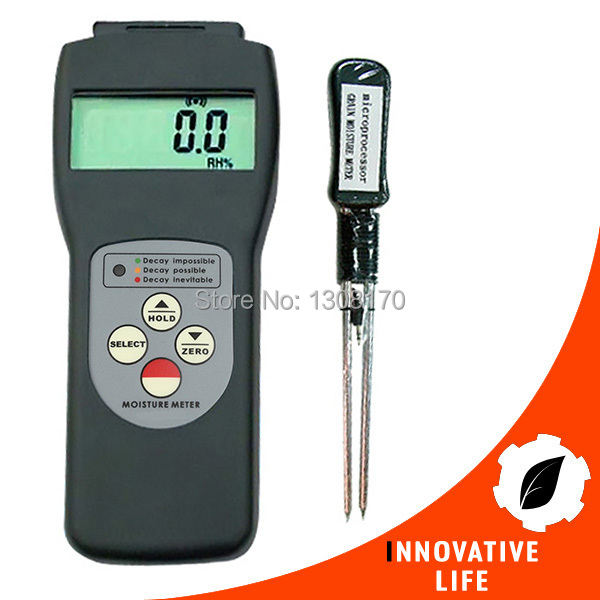 New Digital 6 - 30% Range Grain Moisture Meter Tester Rice Wheat Corn Soya Beans Barley Oats Measures 36 kinds of Grains digital multi grain moisture meter tester rice wheat rye peas corn oat 6 30% tk25g
