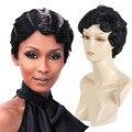 Новое Поступление Афро-Американской Короткие Волнистые Парики Теплоизоляционный Парики для Чернокожих Женщин Perruque Cheveux