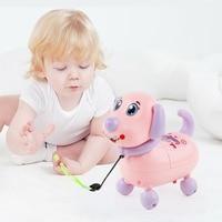 Baby Robotic Interactive Electronic Dog Toys Children Playful Pet Dog Walking Bump Electric Music Puppy Girls