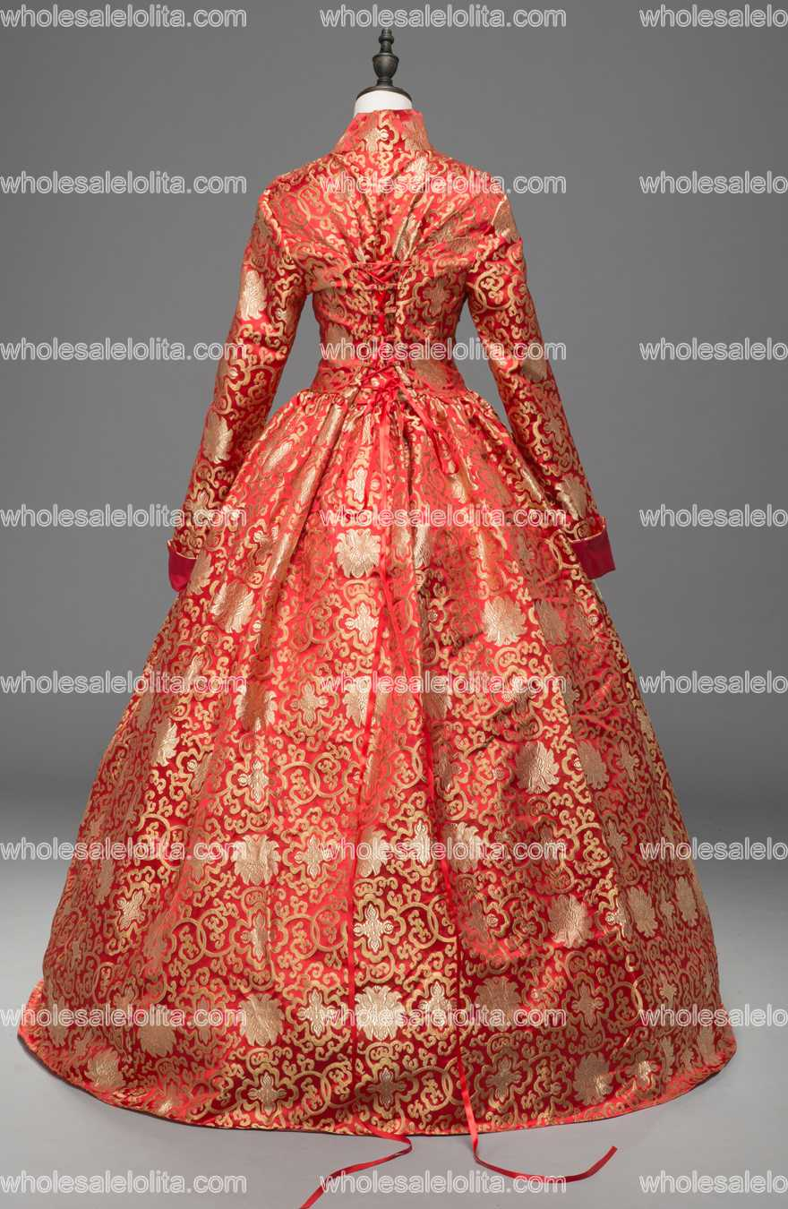 Robe Théâtrale Jacquard Gothique Thrones Game Boule Of Robes Color Elizabeth Reine S8w4Ewq