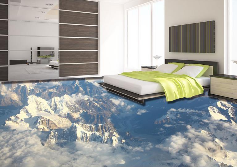 Custom floor vinyl tile wall papers home decor the vast - Waterproof vinyl flooring for bathrooms ...
