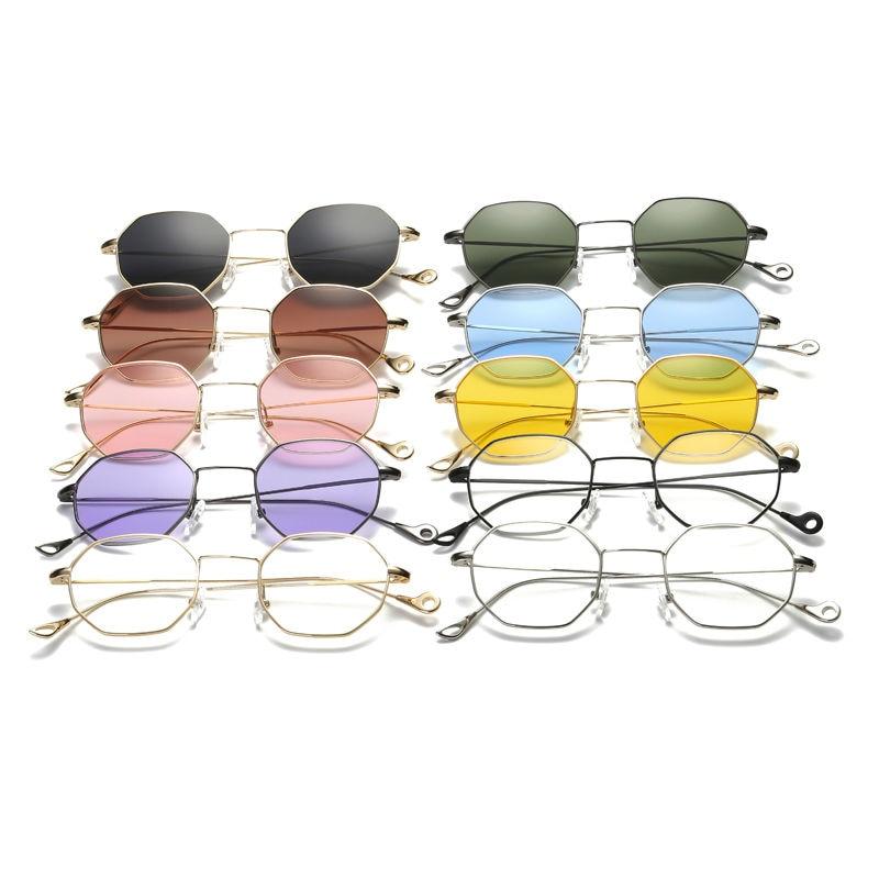 Owl City Hexagon Sunglasses Wanita Kacamata Matahari Kecil Merek - Aksesori pakaian - Foto 3