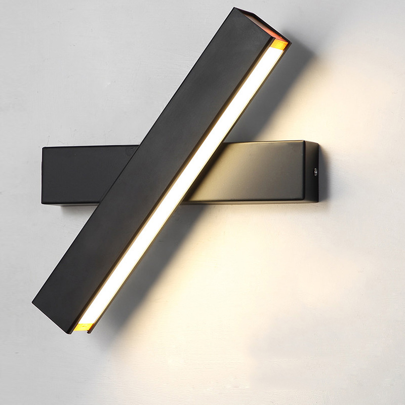 Feimefeiyou Creative Led Wall Lamp Simple Modern Fashion Bedroom Corridor Aisle Wall Bedroom Bedside Lamp Adjustable Angle