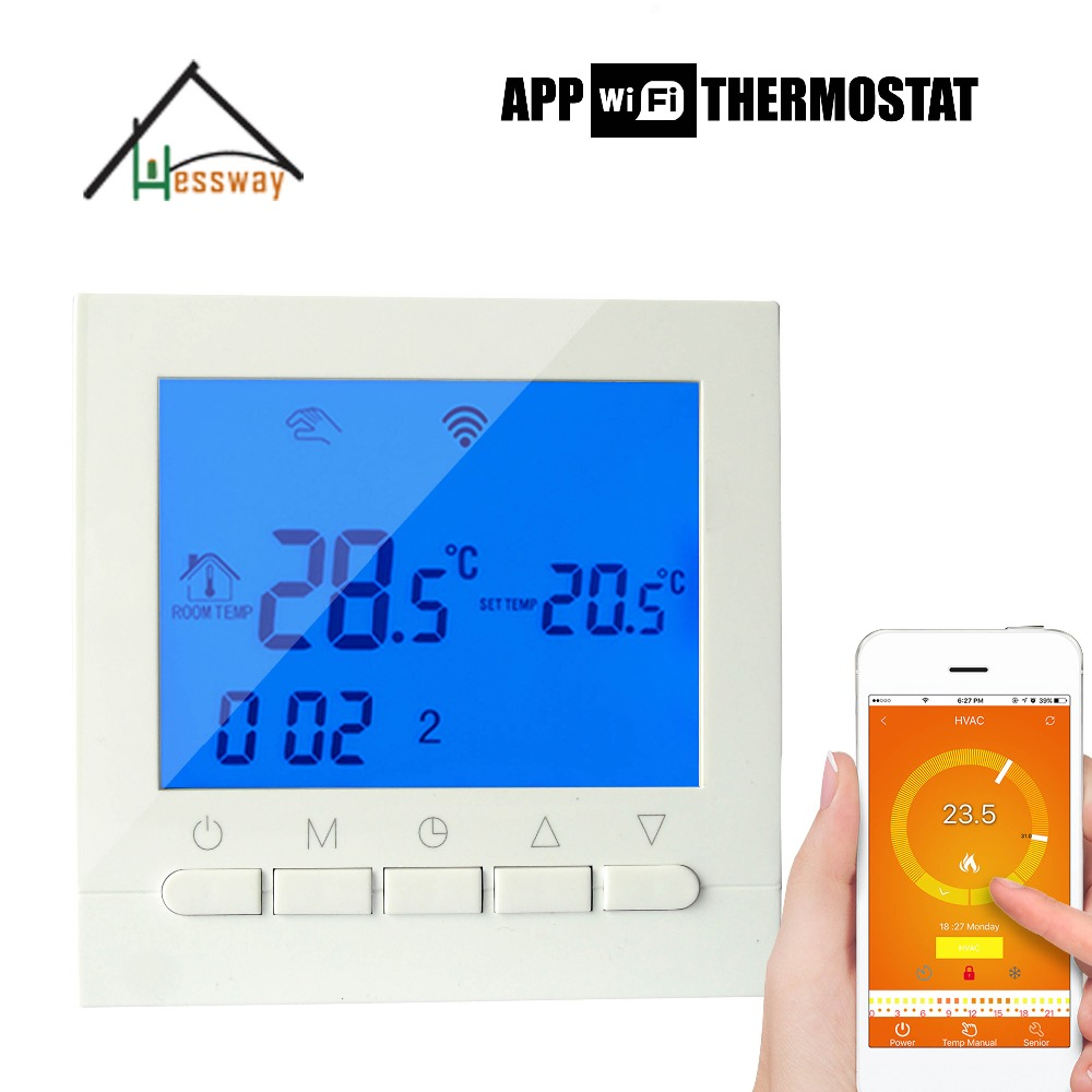 Warm System programmable remote temperature control wifi thermostat boiler for English Russian Operating Instructions english russian operating instructions wifi thermostat gas boiler water heating radiator valve for underfloor warm system