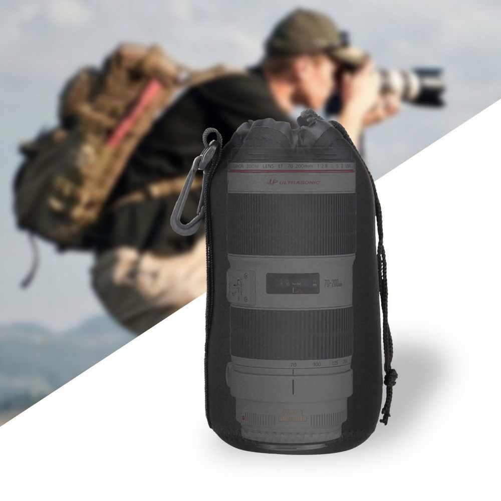 Travor עמיד למים מרופד מגן עדשת המצלמה תיק Case פאוץ עבור Canon Nikon Pentax Sony אולימפוס Panasonic עדשת גודל S M L XL