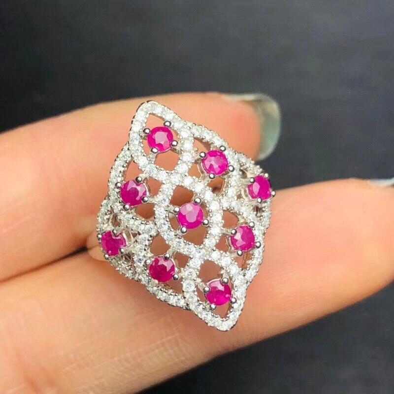 Aufrichtig Uloveido 925 Silber Natürliche Rubin Ring Luxuriöse Schöne Rosa Edelstein Hochzeit Engagement Schmuck Birthstone Ring 20% Fj312