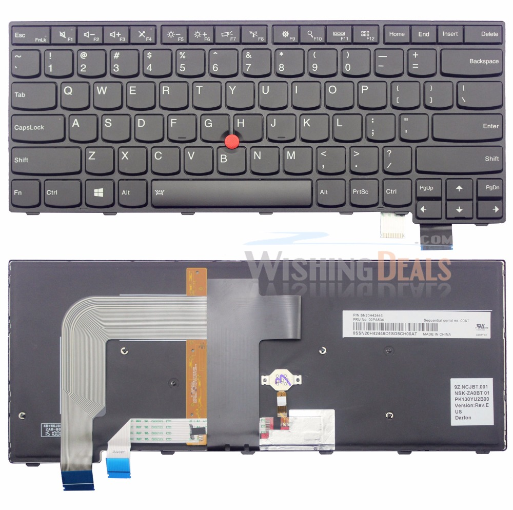 Original NEW For Lenovo Ideapad NSK-BC6SC 9Z.N7HSC.601 NSK-BC6SC 01 US Keyboard