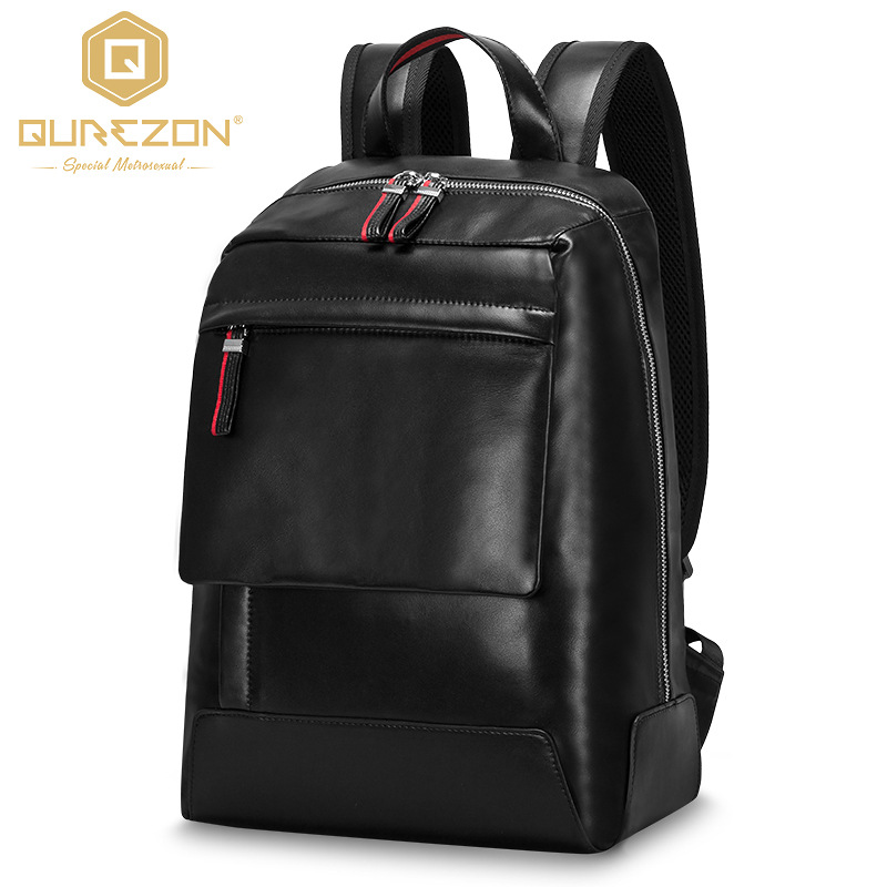 2018 NEW Brand Stylish Men Large Capacity Genuine Leather Bag Travel Laptop Cowhide Backpack Casual Men's Backpacks Top Quality brand stylish travel backpack for men canvas luggage bag casual large capacity shoulder laptop backpacks teenagers travel bag