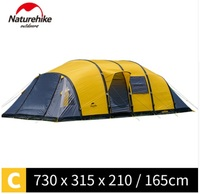 NatureHike Wormhole 8 10 people Tent for family holiday large camping tent T18232 B