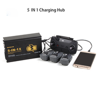 Sunnylife 5 in 1 Battery Parallel Charger Remote Controller Multi Charger Dual USB Charger for DJI SPARK Drone Accessories