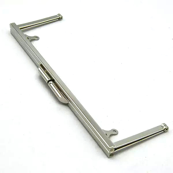 20 cm / 8 Inch Silver Straight Edge Purse Frame - Purse/Clutch Hardware ...