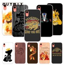 OUTMIX Lion King Soft TPU Silicone cover case For iPhone 6s 6plus 6 7plus 7 8 8plus 5 5S SE XR XS max phone case ufc conor mcgregor the king soft tpu silicone cover phone case for iphone 6splus 7plus 8plus se 5 5s 6 6s 7 8 max xr xs x10