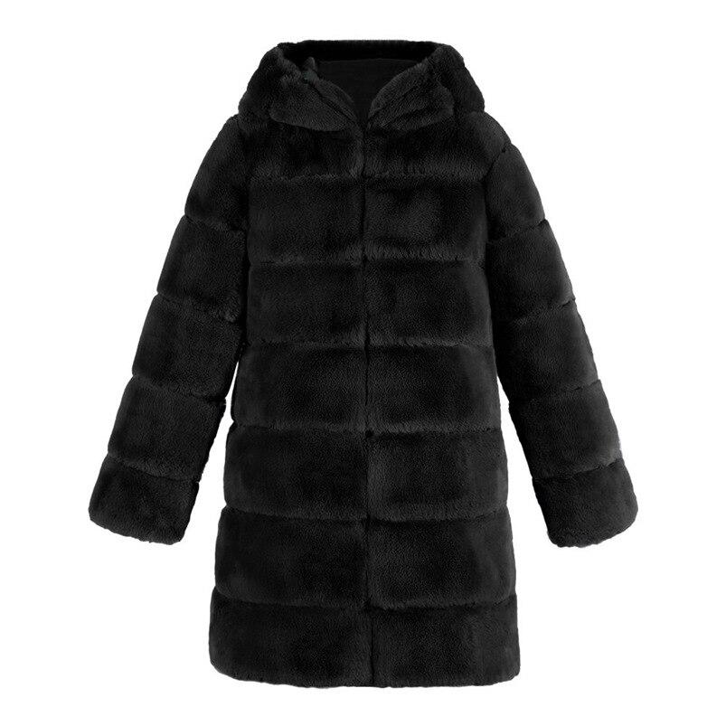 Zipper Winter Coat Women 2018 Sleeveless Fur Cashmere Hoodie Coat Girl Warm Pullover Thick Coat femenino #N28 (3)