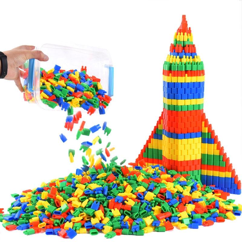 100 DIY Rocket Bullet Building Blocks Toys Children Fight To Insert Kindergarten 3-8 Years Old Boy Early Education Toys Brick