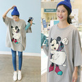 tops blusas feminina spring summer style 2016 new korean women t shirts loose print cartoon mickey T-shirt students female A1507