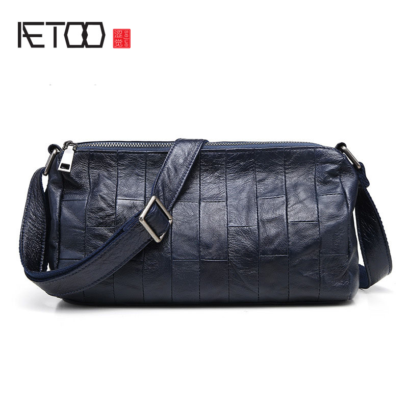 AETOO The new female package of the fashionable shoulder Messenger small square package cross section square bag 2018 new female korean version of the bag with a small square package side buckle shoulder messenger bag packet tide