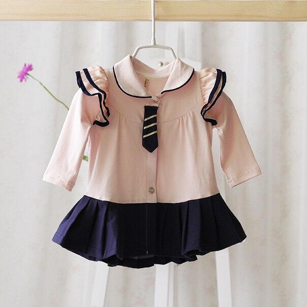 Мода новый стиль новорожденных девочек кружева с длинными рукавами рубашки весна и осень мода милый ребенок красивая блузка рубашки