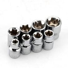 """8pcs 3/8"""" torx star socket set e type E8 E10 E11 E12 E14 E16 E18 E20 hand repair tools"""