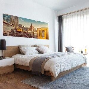 Image 2 - 도시 철도 메트로 벽 스티커 침대 머리 스티커 벽 스티커 침실 장식 및 pvc 홈 데 칼