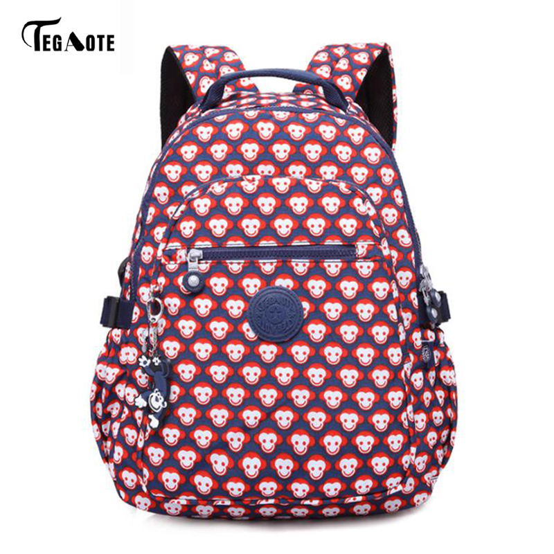 TEGAOTE Cartoon Kids Cute Backpacks Monkey Mini Schoolbag for Teenage Boys Girls Backpacks Stars Children School Bags Best Gifts
