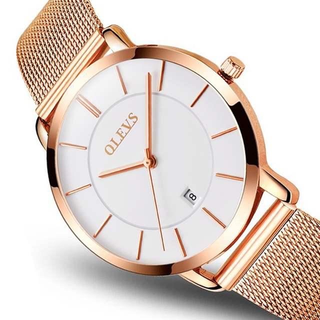 cf3c0bed251 placeholder Gold watch OLEVS Brand Water Resistant Watch Women Fashion  Casual Quartz Ladies Watch Full Steel Wristwatch
