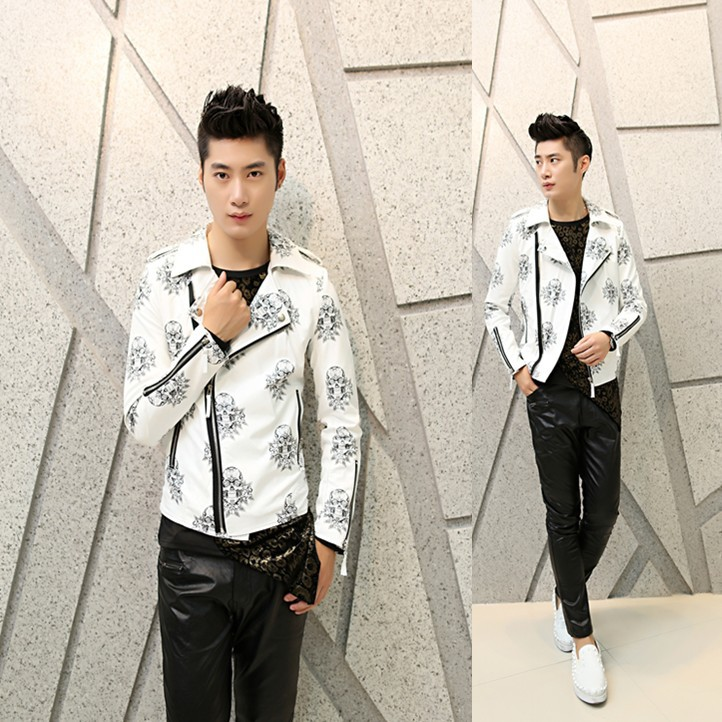 2017 font b men b font floral font b jacket b font male fashion casual coat