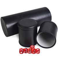 Foreign hot 2 leather flannelette suit dice high grade commercial color cup