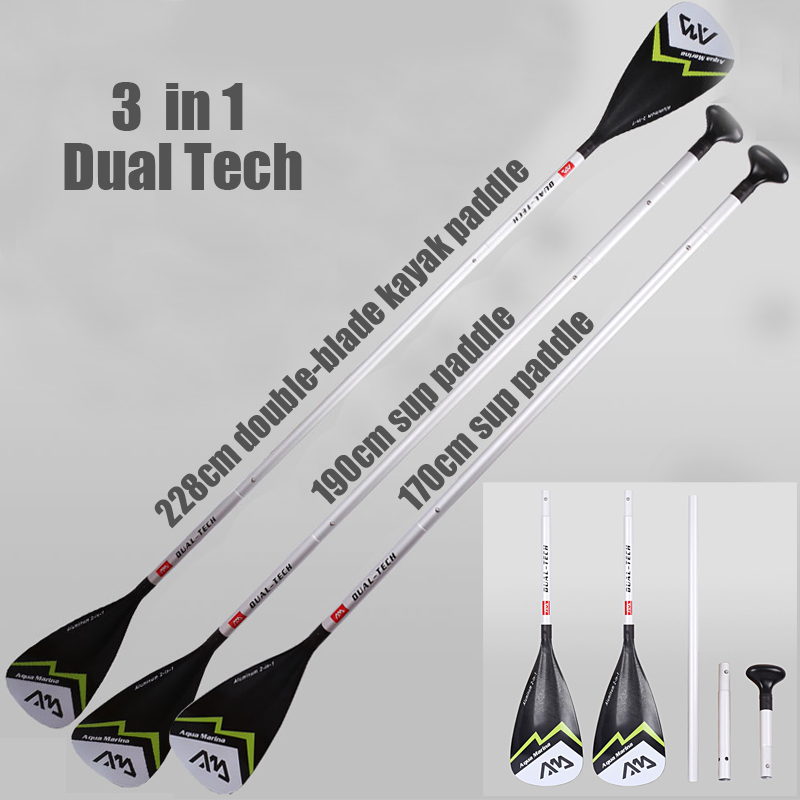 SUP Board Dual Tech Paddle Stand Up Paddle Board Kayak Boat Canoe Double Ends Paddle B0302127P