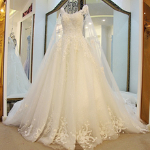 do dower V-neck Wedding Dress Ball Gown With Train
