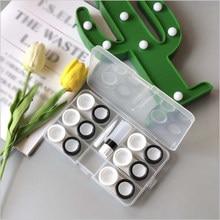 Lentilles de Contact, Kit solide, 6 paires, support de voyage, boîte de lentilles de Contact
