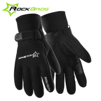 RockBros Winter Cycling Gloves Waterproof Thicken Fleece Thermal MTB Bicycle Bike Gloves Motocross Gloves Guantes Ciclismo