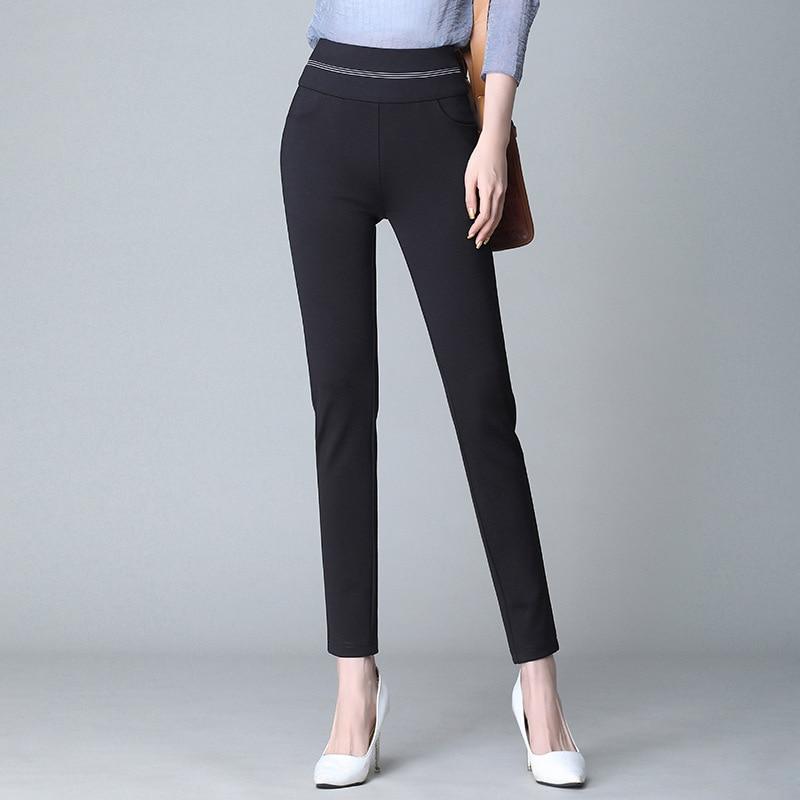 Women   Pants   &   Capris   Slim summer splice High waist thin Pencil   pants   Skinny Ankle-Length   Pants   Woman 8274