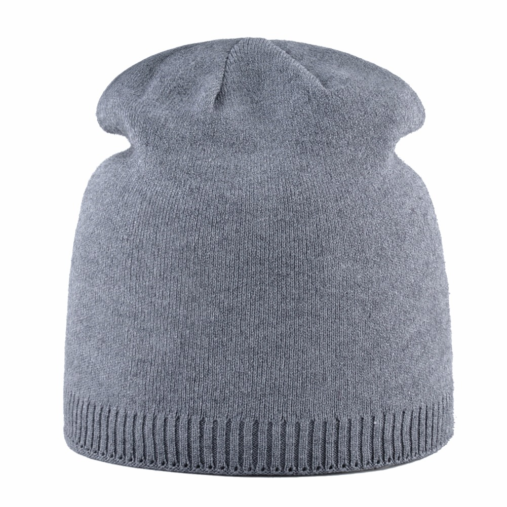 e28e18a77cd 2018 Female Autumn Winter Knitted Hats For Women Solid Color Double Lining Knit  Beanie Ladies Skullies