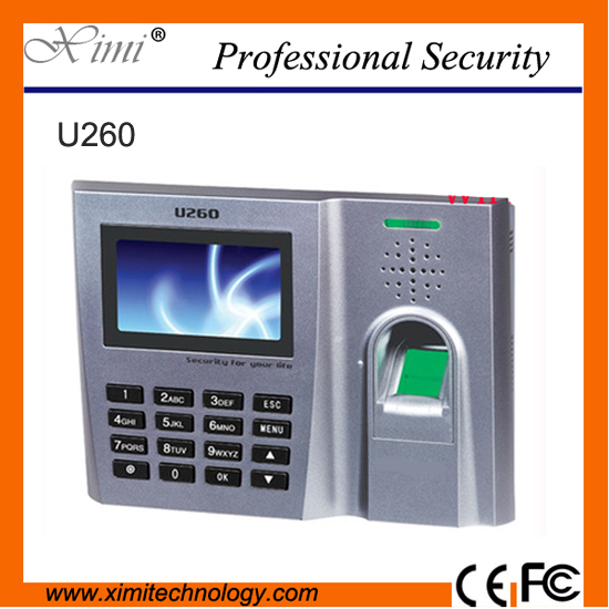 3000 user IC 13.56MHz biometric fingerprint time attendance time recorder U260/IC employee time clock