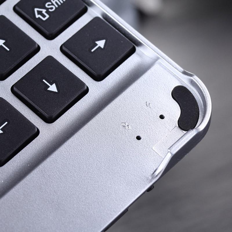 Aluminum Alloy Wireless Bluetooth Keyboard Ultra-Thin Portable Keyboards For IPad 5 IPad Air Tablet IJS998