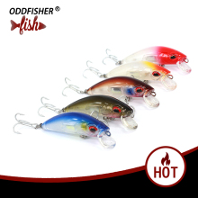 Купить с кэшбэком 1 PCS Fishing Lure Hard Bait Minnow Wobblers  Fishing Accessories Slow Floater Tackle Quality Lures Topwater Minnow Crankbait