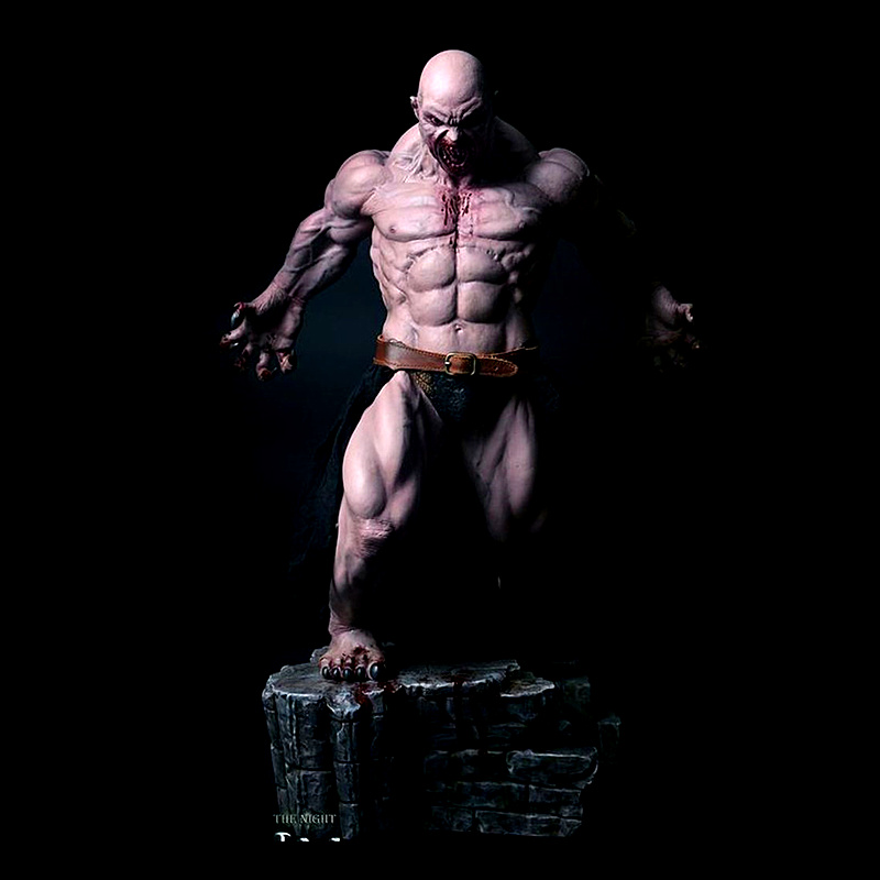 48 CM 1/4 The King of The Night Cain Anime Figure statue Cain Dolls Action Figure Ver with Box