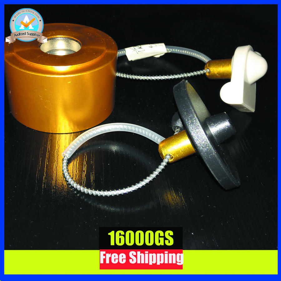 все цены на  2017 new gold color universal security tag detacher for wine bottle eas hard tag remover 16000GS free shipping  онлайн