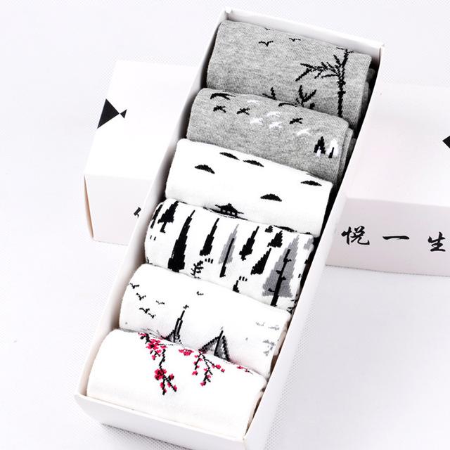 6 Pairs Men's Cotton Socks With Box