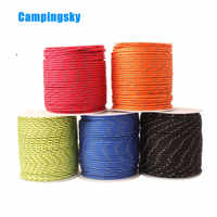 CAMPING SKY Paracord 2mm Reflective Paracord 3 Strand Core Outdoor Camping Rope Parachute Cord Lanyard Tent Multifunction Corda