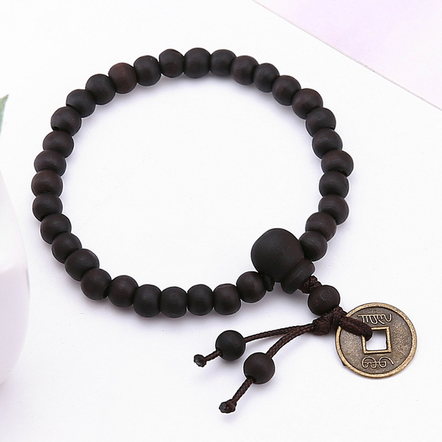 c87f305e93 Religion Buddhist Tibet Buddhists Bracelet Tibetan Decor Bangle Wrist Men  Jewelry Wood Buddha Bead Prayer Beads Bracelet