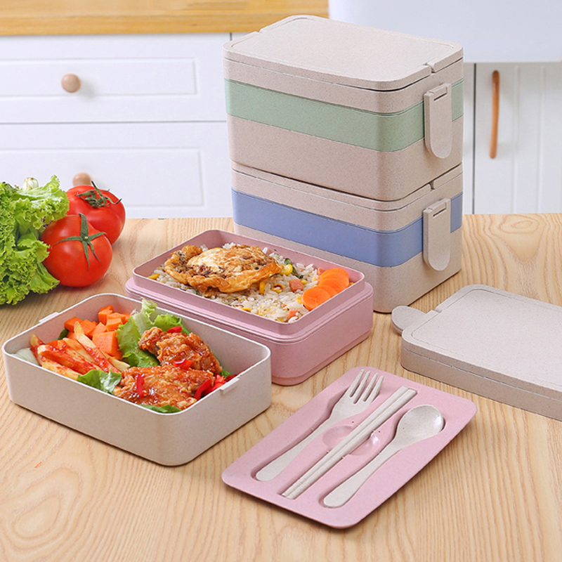 three layer lunch bento boxes large portable kids lunchbox bento food container storage box. Black Bedroom Furniture Sets. Home Design Ideas